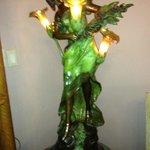 Art Deco lamp in living room area