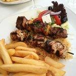 chicken & pork souvlaki