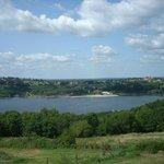 vue sur le lac de villerest