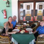 me an my family on another trip to fusion 22 for my best ever curry :)