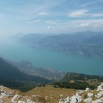 The view from the top of Malcesine Monte Baldo