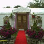 The wedding reception venue