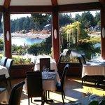 The fine dining restaurant at Galiano Inn