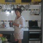 Mme Vyncke, notre hôtesse