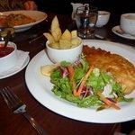 Crispy haddock fillet