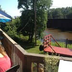 Deck overlooks Knife River