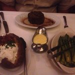 Petite Filet, Baked Potato and Asparagus