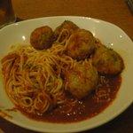 Espaguetis con albondigas de Haggis