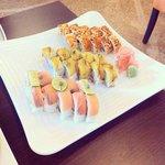 Delicious sushi at Kyoto