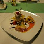 Dessert aus dem Restaurant