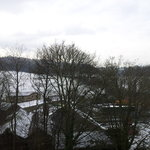 Winter View of Storthes Hall wood from Double Room