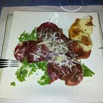 salade roquette bresaola