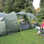 Our tent and pitch