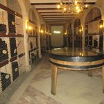 Special bottle area with dated wines