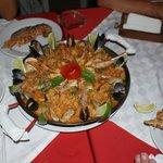 paella con la cicala di mare