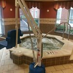 Hot tub with ADA chair