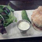 Fantastic Mushroom Burger and Organic Salad