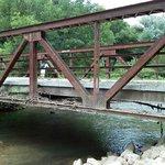 Bridge after flooding