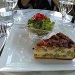 Quiche et salade