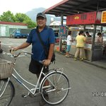 Free bikes for guests to use - at food street