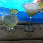 amazing mojito and frozen margarita!
