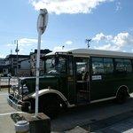 大石田駅前からのレトロバス