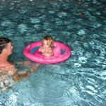 Daddy & Ella go for a late nite swim at the pool!
