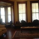 the beautiful parlor and turret room at AngelsGate B&B