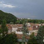 Blick über Altstadt und Doubs