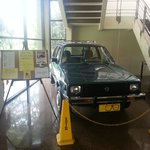 Aquino's actual vehicle from Boston usa, 80-83 restored and on display