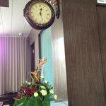 love the antique clock!