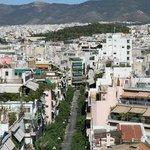 Вид на город с большого общего балкона