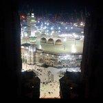 Haram aerial view at night