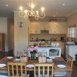 Open-plan dining/kitchen area