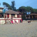 Blick vom Strand aufs Beach House