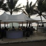 view of the beach bar from the restaurant