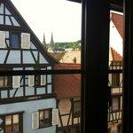 Vista hacia el pueblo desde la ventana de la habitación