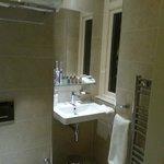 Super-clean. L'Occitane toiletries.