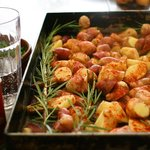Potatoes ready for roasting