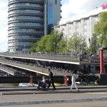 alem da fachada que fica enfeitadas pelas bikes