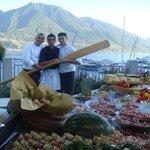 il team di cucina con lo chef Stefano Ferola