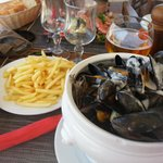 delicious roqfore mussels