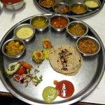 Fully loaded thali