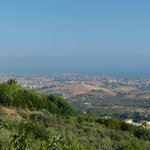 View on sea and Valle dei Templi