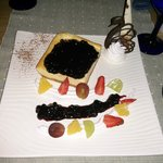 Blueberry Cheese Cake – Rs. 850 + 12% tax  & 10% service charges