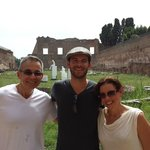 That's Evan the middle. What a great day in Rome!!