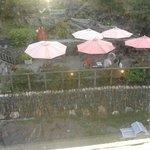 vista sul fiume dalla stanza con ristorante