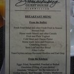MENU FOR BREAKFAST
