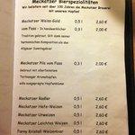Speisekarte - Hopfenlieferant vom Bier!