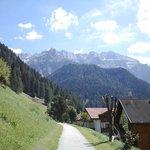 Sentiero per il centro di Selva in Val Gardena